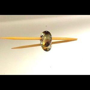 Trollbead translucent flower bead